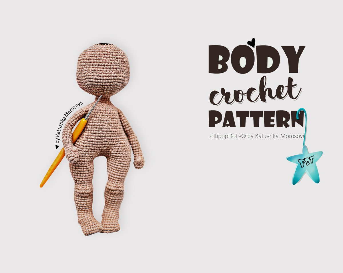 Baby Bean Doll (Free Amigurumi Crochet Pattern, Human Body Doll ... | 954x1200
