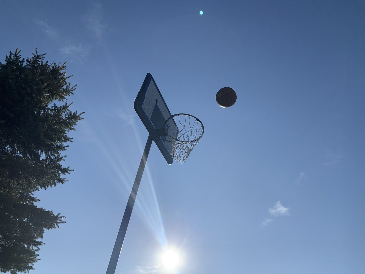 Finally out shooting some b-ball on this beautiful day. #QuarantineLife