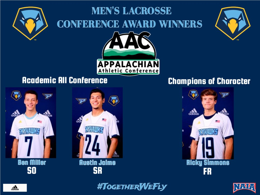 Congratulations to the 2020 Men's Lacrosse team on each of their @AACsports Conference Awards received this season! Great Job Skyhawks! #TogetherWeFly <br>http://pic.twitter.com/OK4ln7b0QX