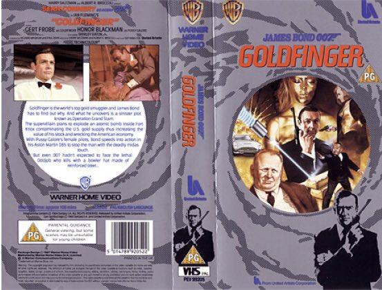 Original retail vhs artwork of the #JamesBond film #Goldfinger starring Sean Connery #tbt #artwork #bluraypic.twitter.com/yxnIfGF2ks