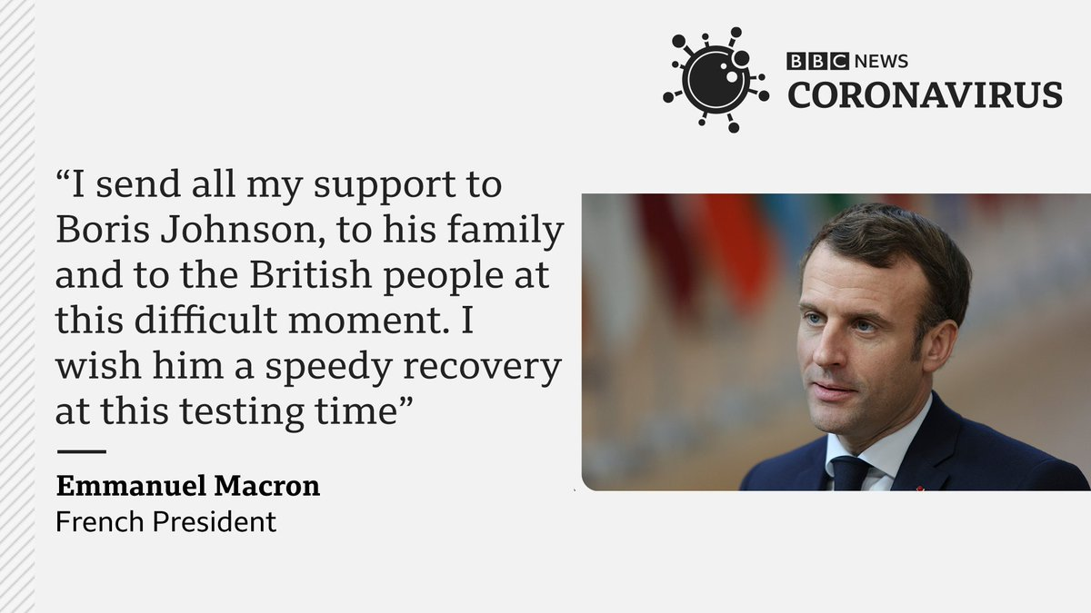 Bbc News World On Twitter I Send All My Support To Boris Johnson To His Family And To The British People At This Difficult Moment French President Emmanuel Macron Tweets His Suppot
