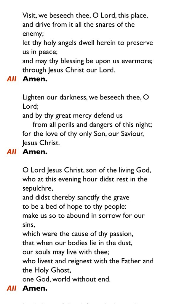 The collects from Compline are all beautiful. #compline #collect #nightprayer  #endoftheday #prayer