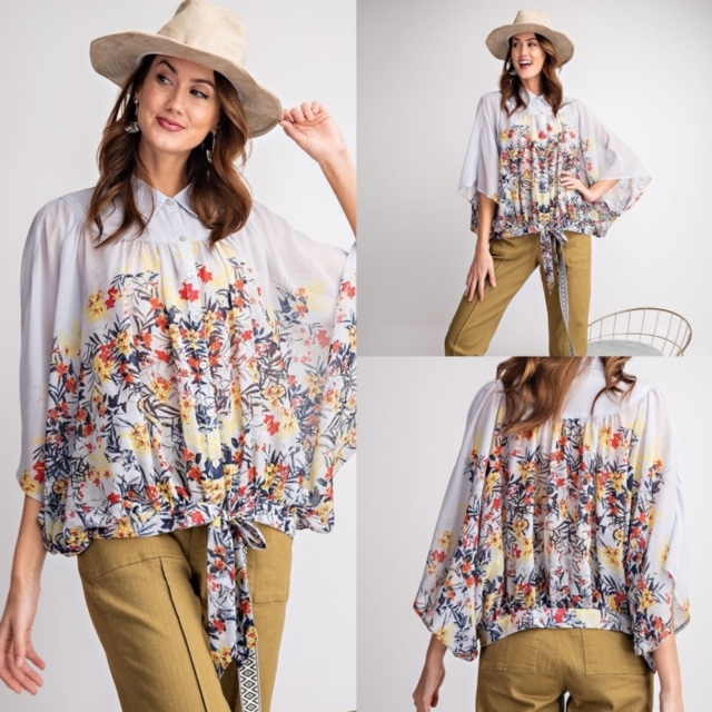 Floral Print Chiffon Blouse. Available in S-M-L. Retails for $40.00 on https://soo.nr/gqzE.  #fashion #ootd #style #love #fashionblogger #instastyle #silk #shirt #summer #instafashionpic.twitter.com/jFw1L3no4z