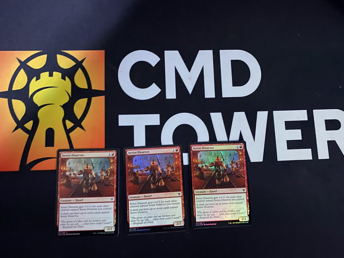 test Twitter Media - Huge shout out to Patron @TheBeshAround for sending me these sweet foil 7 dwarves for my 7 dwarf permanent tribal deck 🤙🏼🤙🏼 https://t.co/J6YAjBrLym