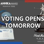 Image for the Tweet beginning: Voting for the 2020 @TheAnnikaAward