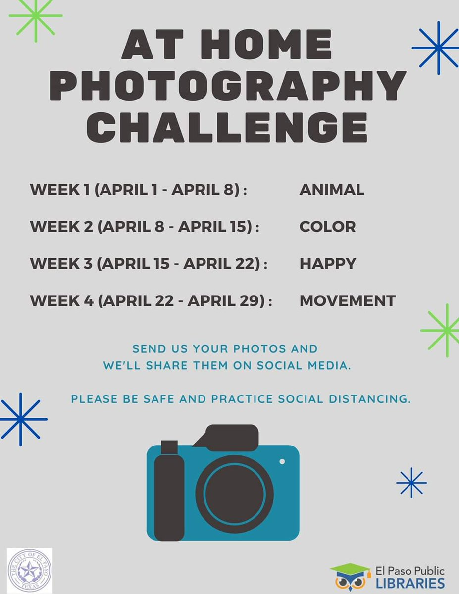A great opportunity from the @elpasolibrary Flex your photography skills! #TeamSISD #SISD_Reads #SISDLibraries #librarianlife