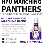 HPU Marching Panthers is excited for next year & looking for YOU🎺 🥁 For more information about scholarships, interviews, and auditions visit https://t.co/4Jw3obDHw3 💜  #sohpu #highpointuniversity #highpointu #hpu #hpu24 #hpu23 #hpu22 #hpu21 #hpu20