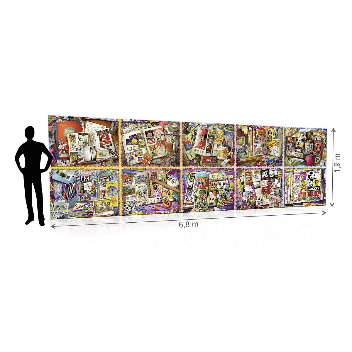Looking for something to help pass the time? Try a 40,320-piece jigsaw puzzle! Measuring over 6-feet high and over 22-feet wide (when assembled), this giant puzzle features 10 scenes of #MickeyMouse throughout his 90-year history.  https://shopdisney.com/mickey-the-true-original-gigantic-puzzle-by-ravensburger-400555617828.html?isProductSearch=0&plpPosition=13&guestFacing=Toys-Shop%2520By%2520Category-Games%2520%2526%2520Puzzles …pic.twitter.com/F1YP0vFm69
