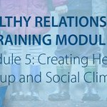 Image for the Tweet beginning: Our Healthy Relationships Training Modules