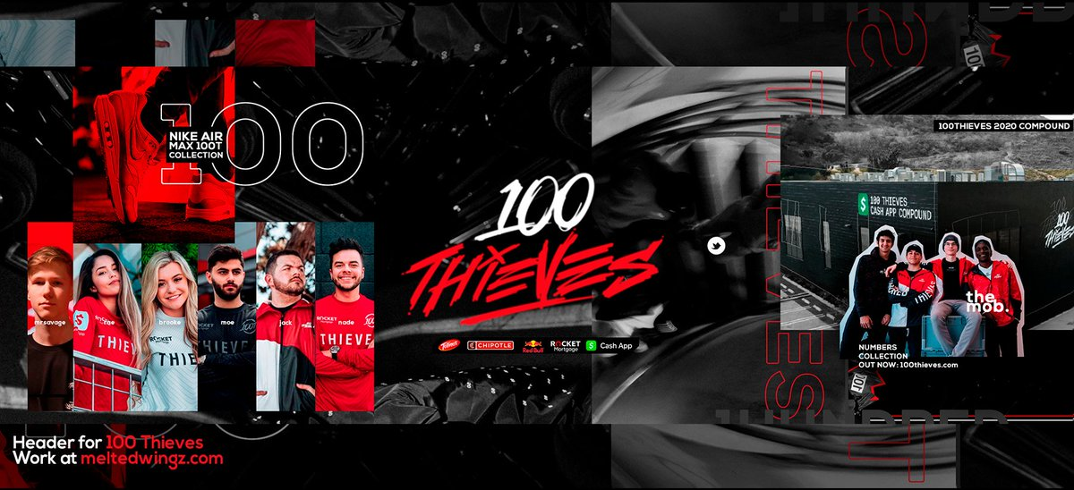 Header for @100Thieves