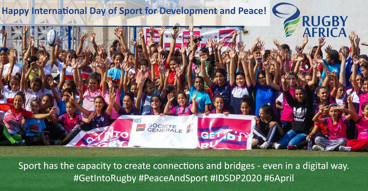 Today marks the International Day of Sport for Development and Peace (IDSDP). Let's celebrate the power of sport to drive social change, community development and to foster peace and understanding. #getintorugby #PeaceAndSport #IDSDP2020 #6April pic.twitter.com/Rs75CTUexo