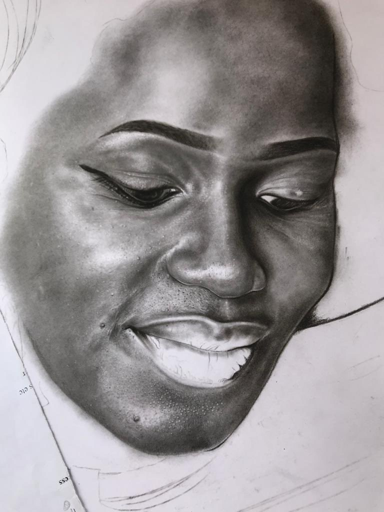 Stages of the #BlackWoman Portrait.   My name is Elvis a Ugandan Pencil Artist please share and like my work.  #Pencildrawing #ArtistOnTwitter #STAYSAFEUG #StayAtHomepic.twitter.com/g0DV1HKTB1