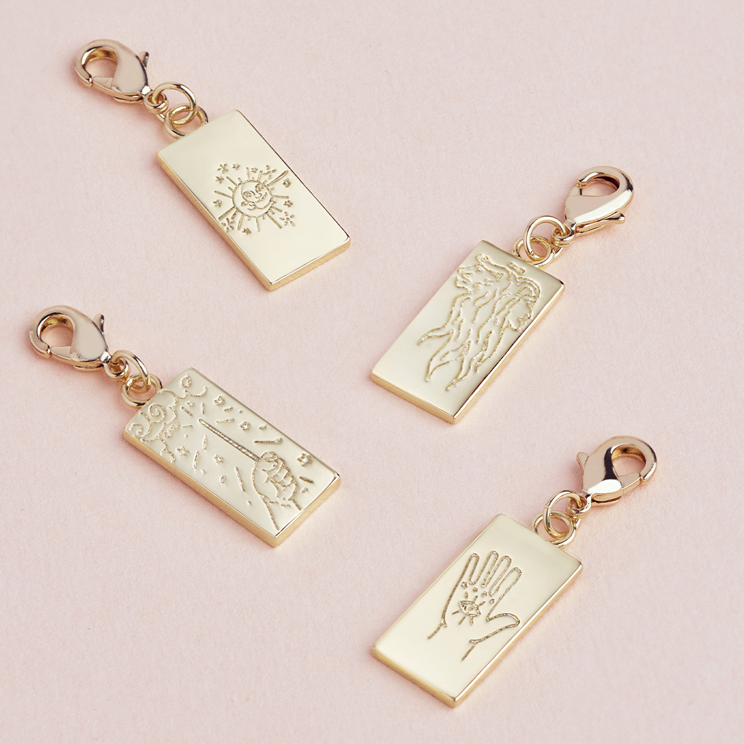 What's your favorite tarot charm? . . . #sterlingforever #newcollection #tarots #charms #fortune #styleguide #trendy #jewelrylove #whatsyourfortune #charmbracelet #womensstyle #cute #musthave #giftidea #shoponline #stayhome #staysafe
