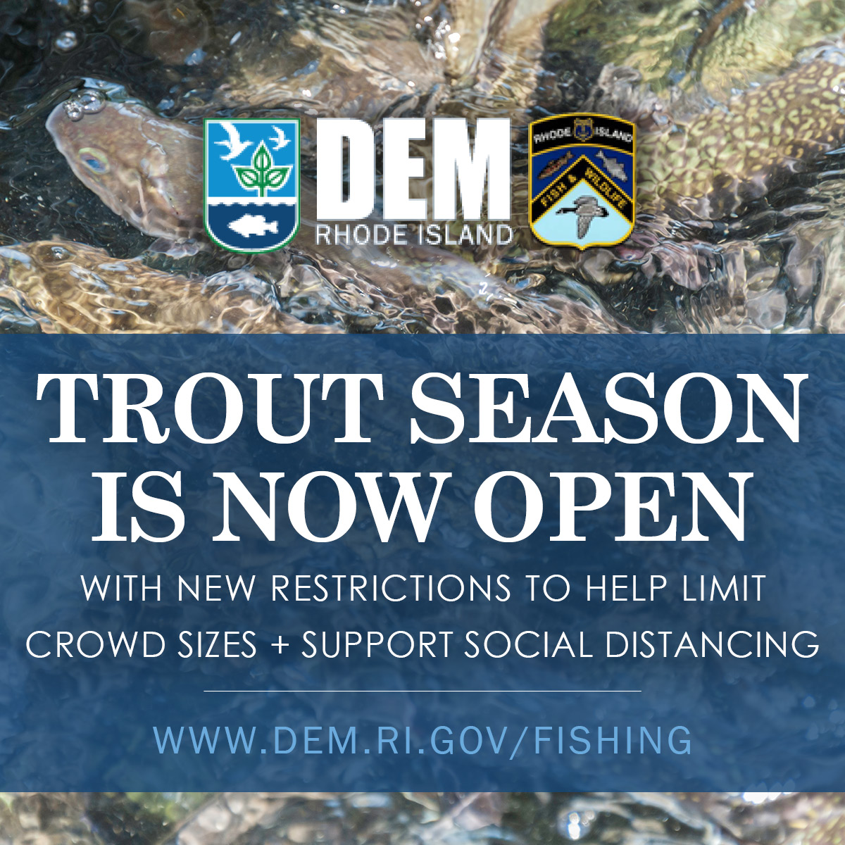 Trout fishing season is now open with restrictions to support social distancing rules