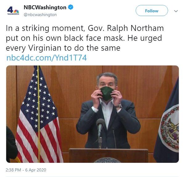 Governor Blackface aka Virginia's Democrat Governor Ralph Northam strikes again. <br>http://pic.twitter.com/SKnbtv9Mq8
