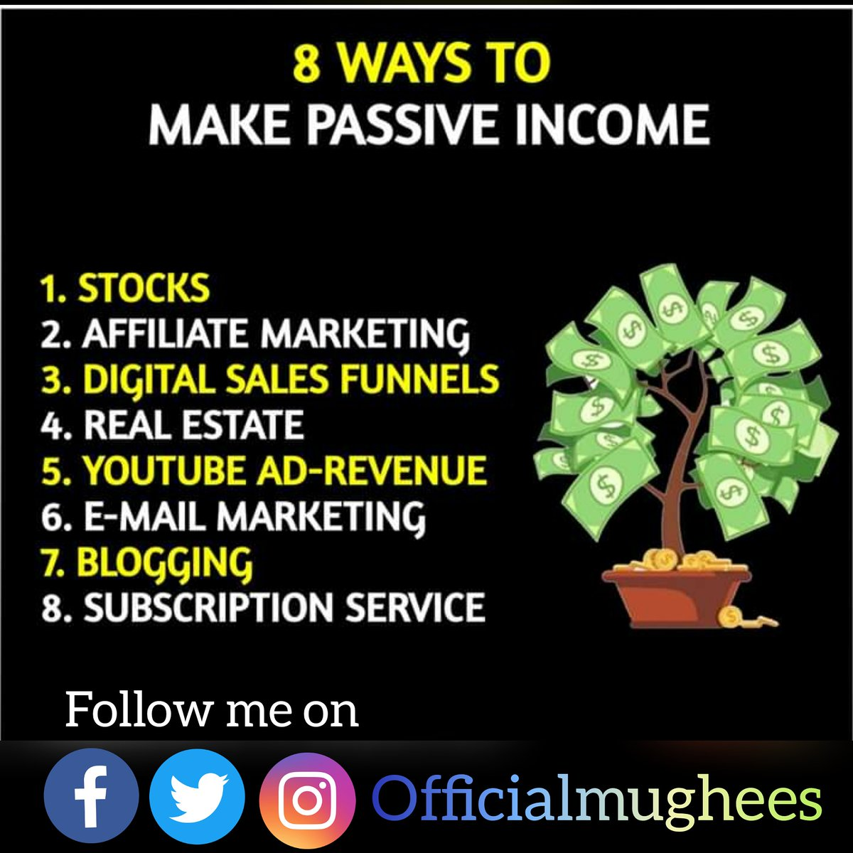 Ways to Make Passive income. #passiveincome #makemoneyfromhome#change #motivation #lifequotes #goals #goalsetting #motivationalspeaker   #motivationalspeakerRana_Mughees #Rana_Mughees_ul_islam #Rana_Mughees #Mughni #mughni #Mughni_Ranapic.twitter.com/4AXUAXcce4 – at Khanewal City