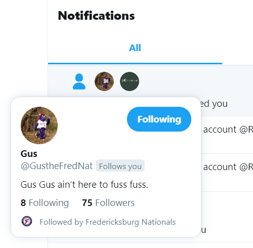 You know you've hit the big time when George Washington's imaginary friend @GustheFredNat follows you!<br>http://pic.twitter.com/jXLi8DWKkv