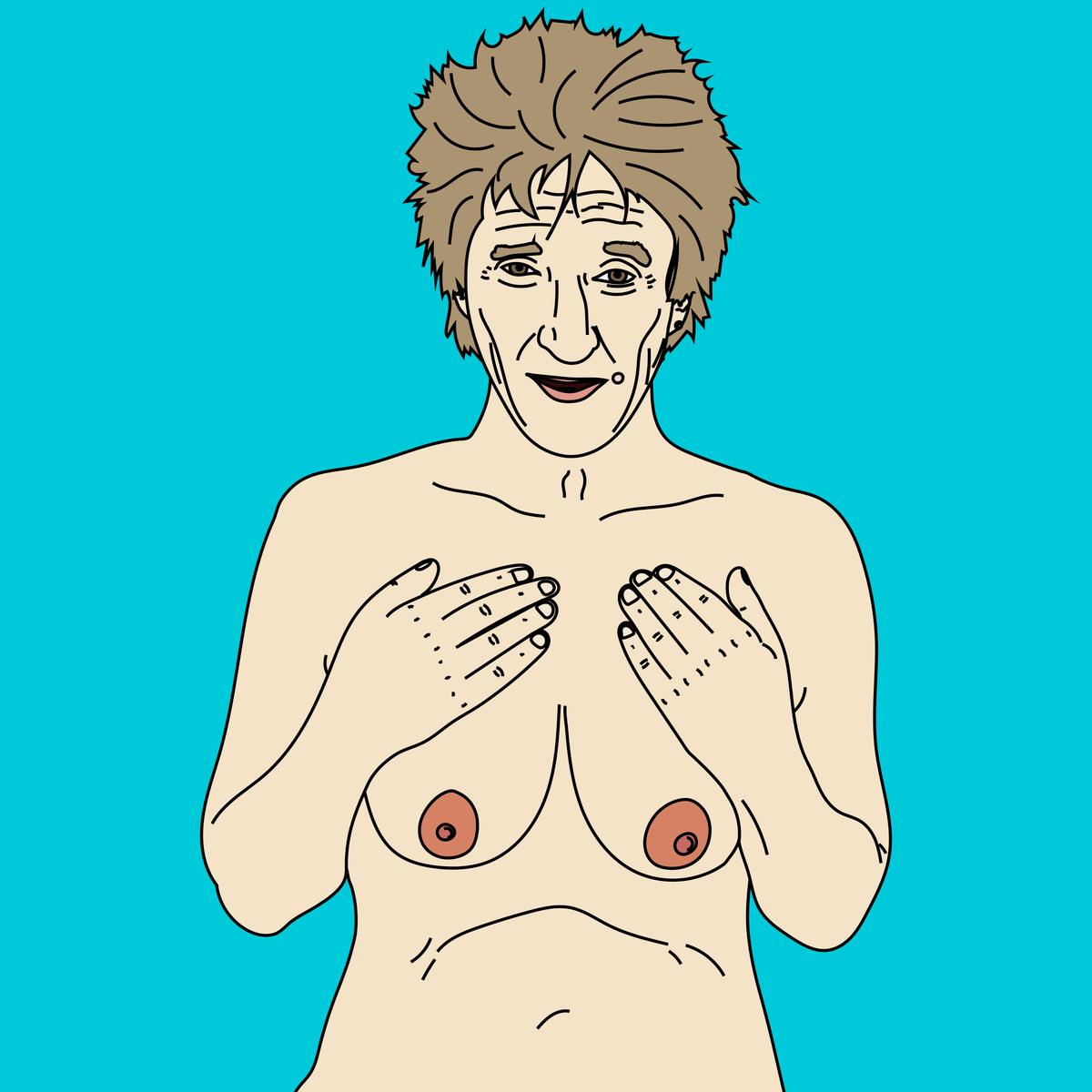 Rod Stewart with Tits. cc: @rodstewart #celebritieswithtits