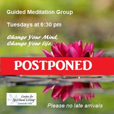Guided-Meditation is postponed until further notice in order to follow current health guidelines.  #GuidedMeditation #Meditation #CSLGH #GranadaHills #Northridge #WoodlandHills #PorterRanch #SantaClarita #SimiValley #LA #LakeBalboa #Encino #Chatsworth #Reseda #Tarzana #NorthHillspic.twitter.com/sXfS7vnu6d