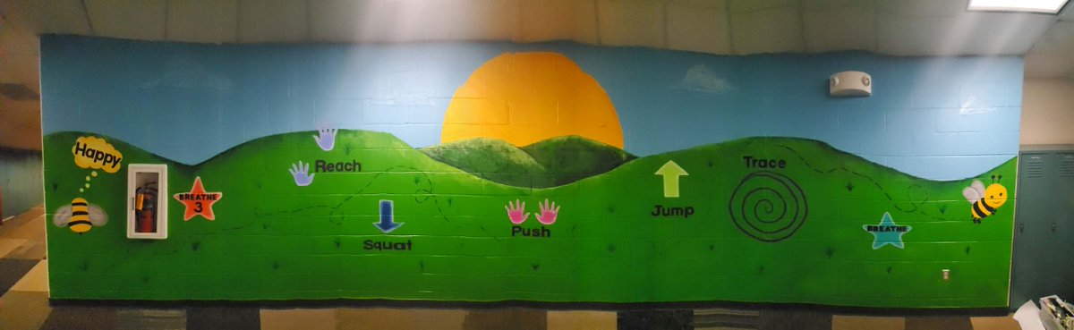NEW SENSORY MURAL AT CHADRON PRIMARY!! This was an amazing project to complete! I can't wait for the students to see it! @ChadronPrimary @CPSCardinals #GoCardsNation #Chadronvisualart #murals https://t.co/K2CxVug64Q