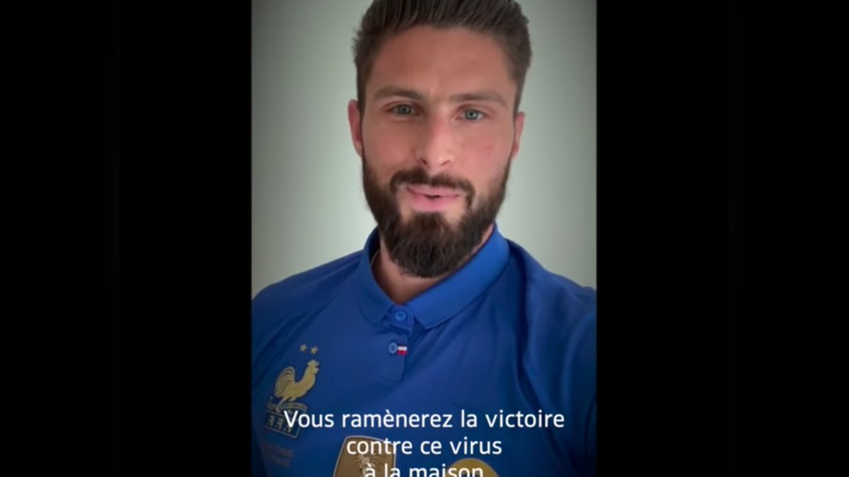 France's football World Cup champions rally behind country's health workers