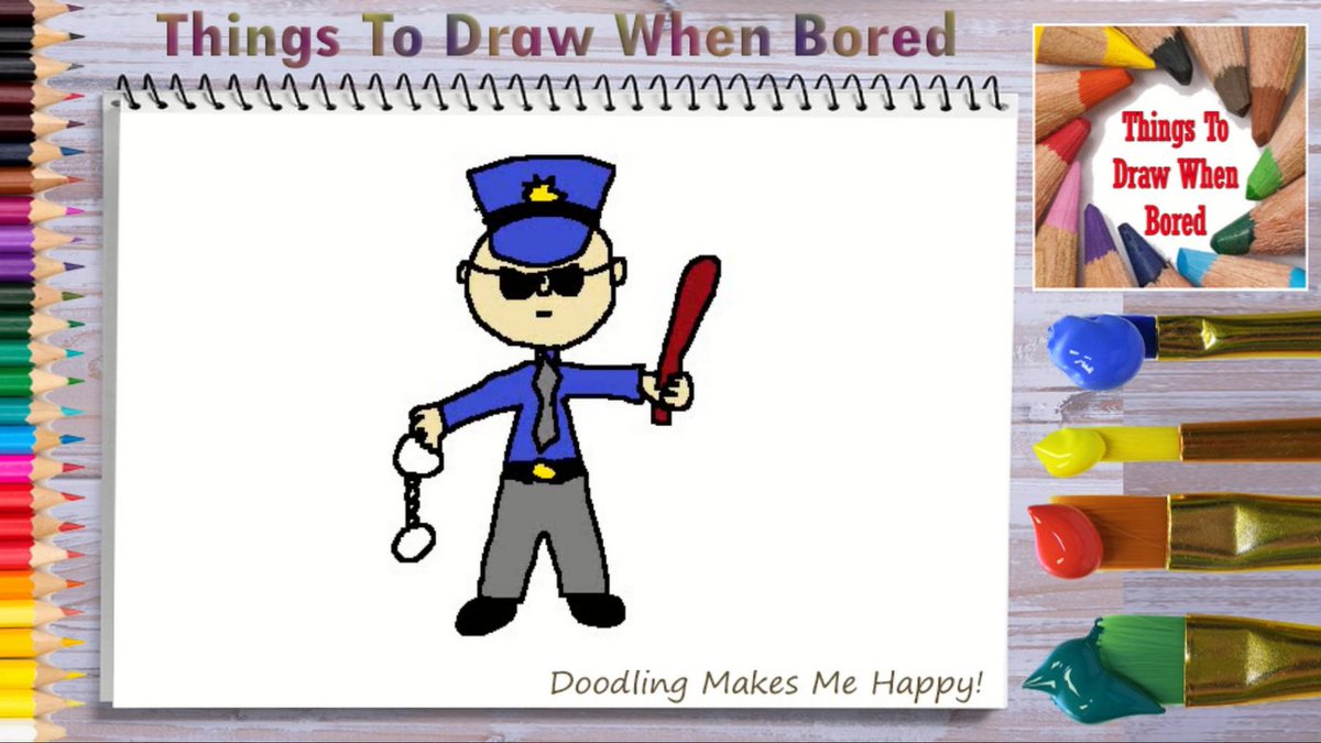 How To Draw A Policeman ( Things To Draw When Bored )  Let's draw a policeman today. https://youtu.be/VEhdhWUqpjE   #police #policeman #policewoman #cop #doodle #doodles #thingstodraw #cartoon #drawingaday #drawingdaily #drawingeveryday #artoftheday #drawing #bored #anxiety #depressionpic.twitter.com/azUkeneehz