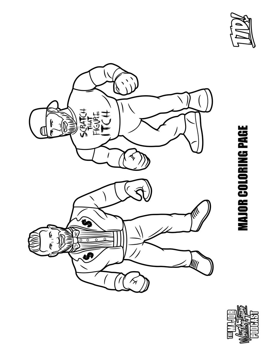 The Major Wrestling Figure Podcast On Twitter Contest Brought To You By Ringsidec Print Out The Pics Below And Have Your Kids Color One Or More Take A Pic Of And