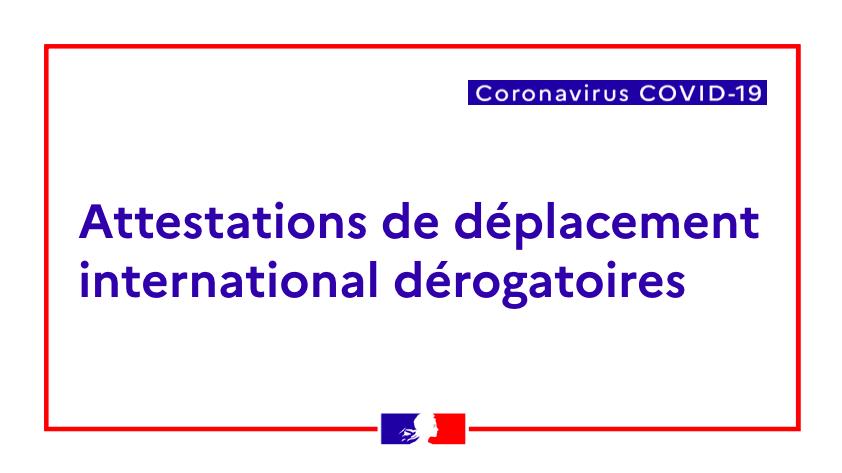 🆕A partir du 6 avril, toute personne se rendant en France 🇫🇷depuis l'étranger devra se munir d'une attestation de déplacement international à présenter aux compagnies aériennes ✈️ avant l'embarquement.  Téléchargez les attestations ici 👉https://bit.ly/2ULxOo4