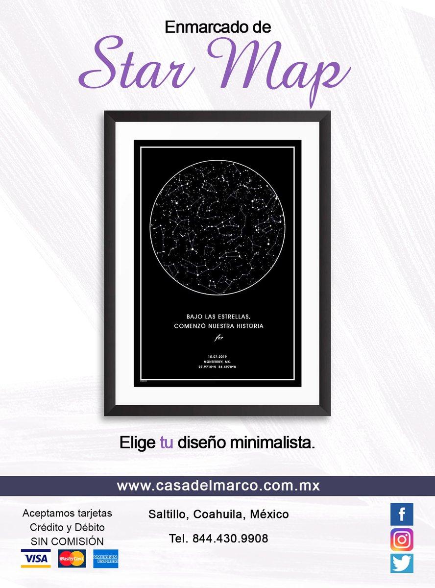 Eres una de mis estrellas y de las estrellas no se puede escapar. . #Enmarcado de Mapa Estelar. . Estamos en #Saltillo ☎ 844.430.9908  . #FirstLove #Constelaciones #StarMap #Love #Stars #Infinito #Amor #TeAmo #TeQuiero #Novios