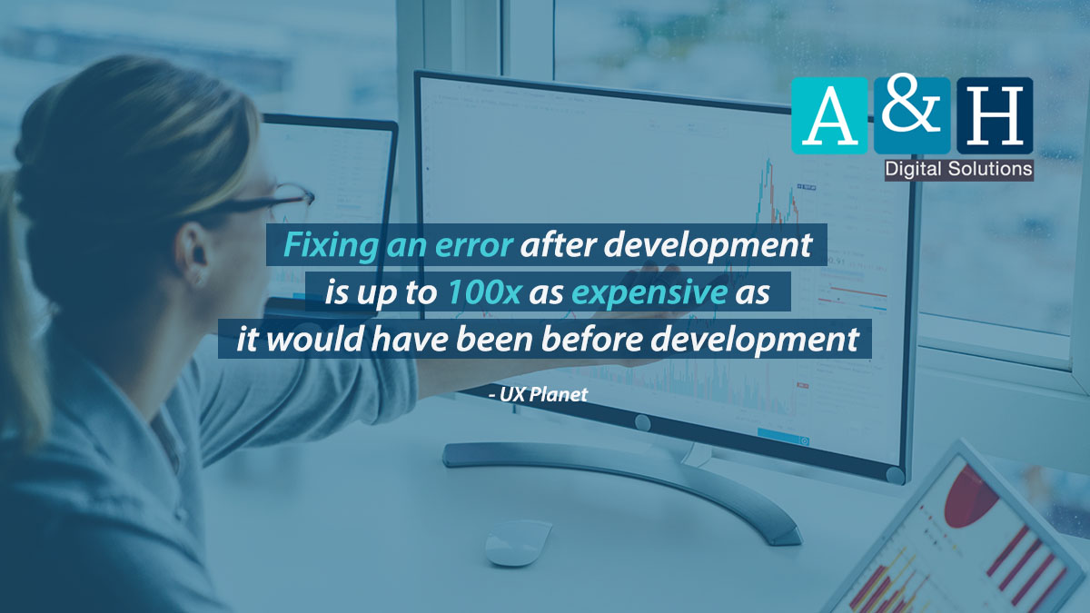 Fixing an error after development is up to 100x as expensive as it would have been before development (UX Planet). For a better digital project experience, speak to us today! #websitedevelopment #B2B #B2C #eCommerce  #webdesign #technology #digitalsolutions #digitalexperiencepic.twitter.com/Dyzc4gsx1W
