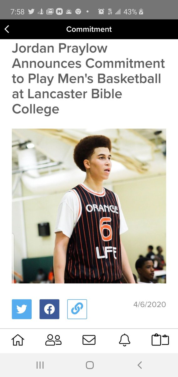 Proud to announce that 2020 PG, Jordan Praylow has #committed #lancaster #college Congratulations JP #ORANGElife #lifelessons #ballislife #handlelife #baltimore #maryland #basketball #freeeducation is the goal #liferspic.twitter.com/hokFGMkpPB