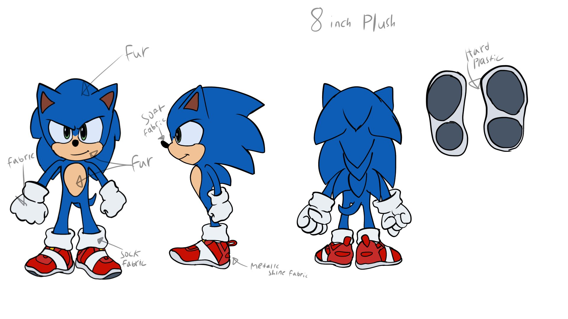 Snoc On Twitter Here S A Little Sonic Movie Plush Idea I Have In Mind I Hope Someone Can Make This