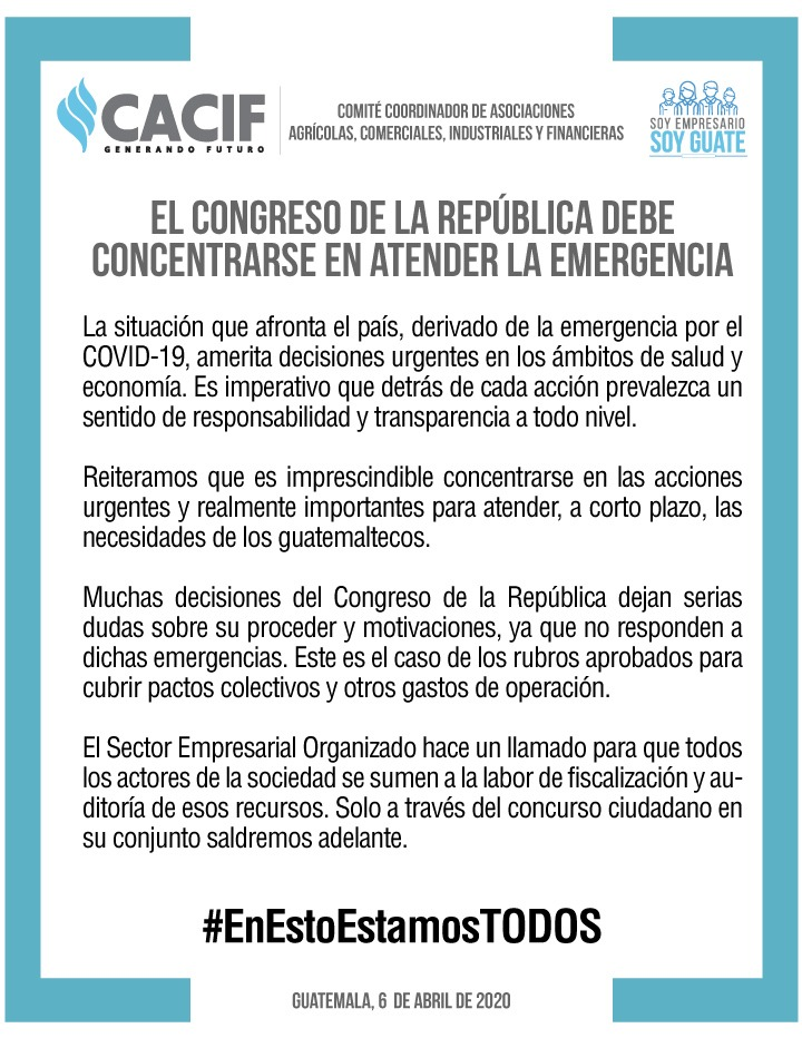test Twitter Media - CACIF dice estar en desacuerdo con el actuar del Congreso. 👇 https://t.co/Sds2Bj3wuk