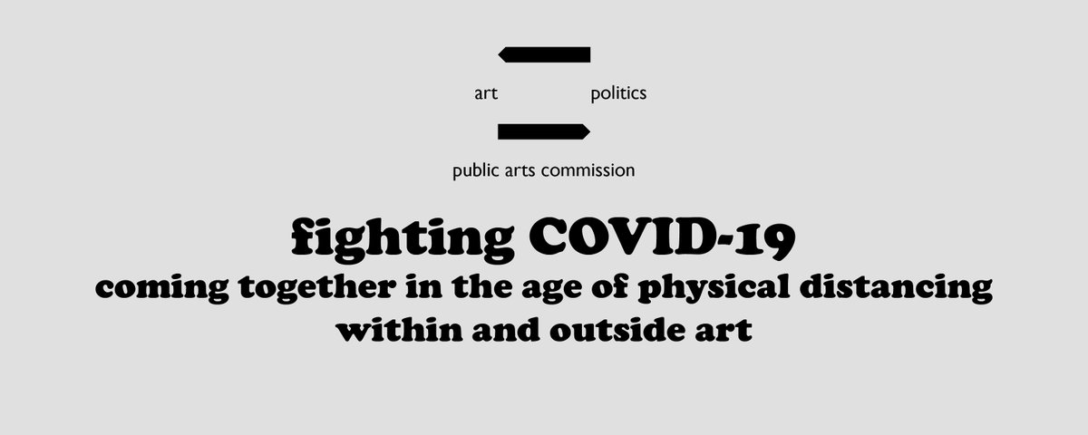 public arts commission has a number of tools and resources to empower the art community to engage politics in response to COVID-19.  http://publicartscommission.org/fight_COVID-19.html …pic.twitter.com/9xZOdlMKJ1
