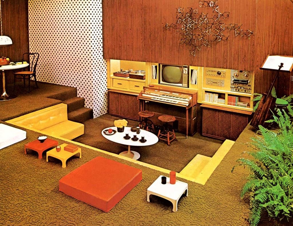 thinking about 70s conversation pits don't text