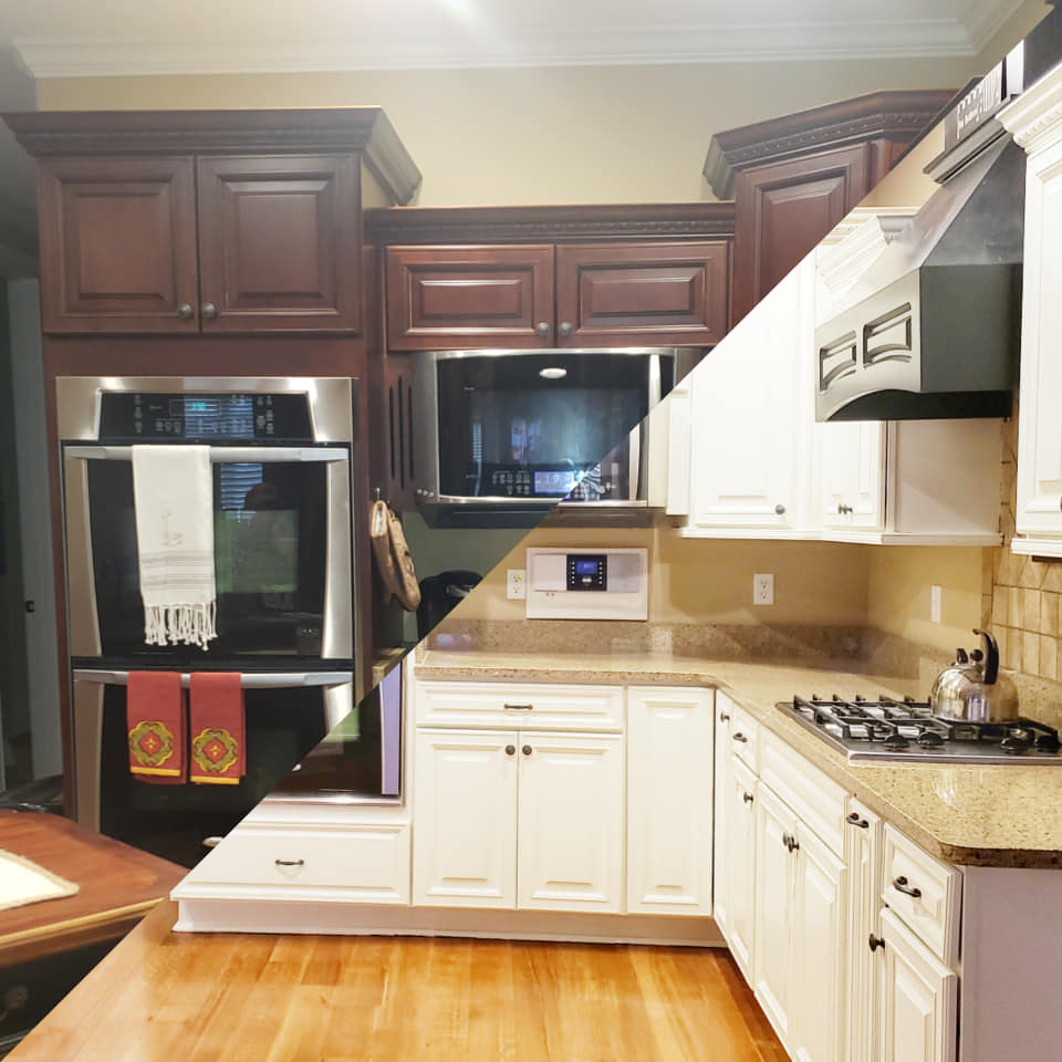 General Finishes On Twitter Kitchen Cabinet Makeover In General Finishes Antique White Milk Paint By Vintage Redesigned Learn More About Gf Milk Paint In This Video Https T Co Lvkkm0qmld Https T Co Pybcl7gmag