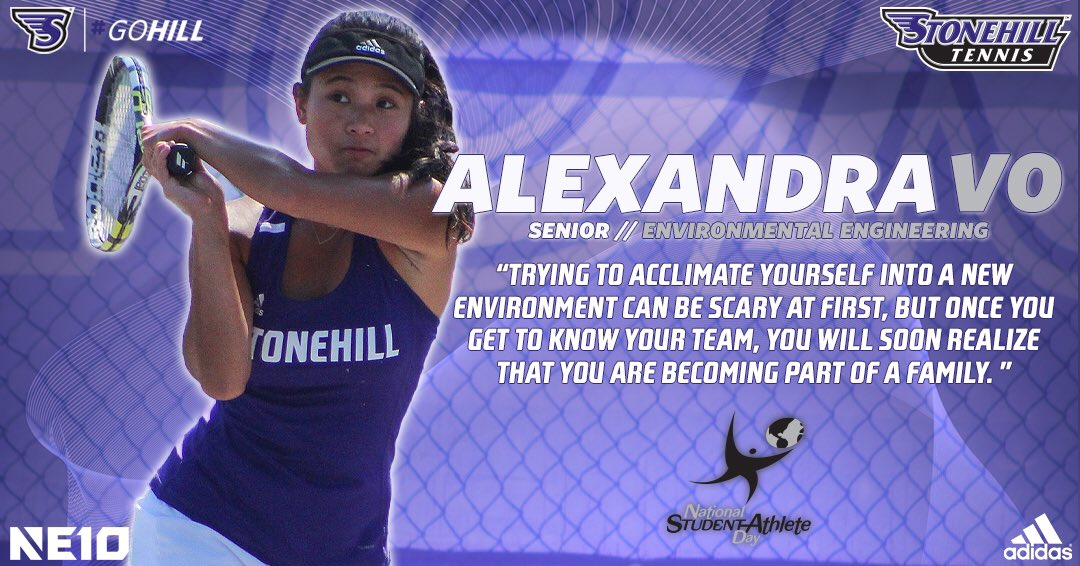 Women's tennis senior Alexandra Vo gives advice to future Skyhawks!   #NationalStudentAthleteDay #GoHill #NE10Embrace #NCAAD2 https://t.co/uuHkTiikXJ