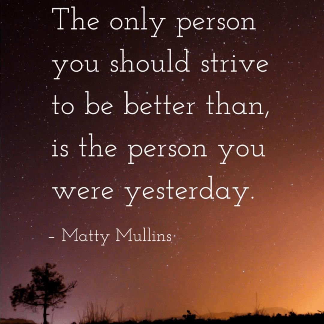 """""""The only person you should strive to be better than, is the person you were yesterday. """" – Matty Mullins http://bit.ly/2JnGg5I . . . #growyourbusiness #mominfluencer #mominbusiness #womeninbusiness #workingmomlife #authenticself #womeninbiz #smallbusiness #smallbizownerpic.twitter.com/f1m6kPhNH7"""