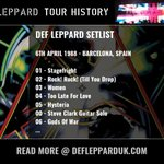 Image for the Tweet beginning: #DefLeppard played a show in  #Barcelona