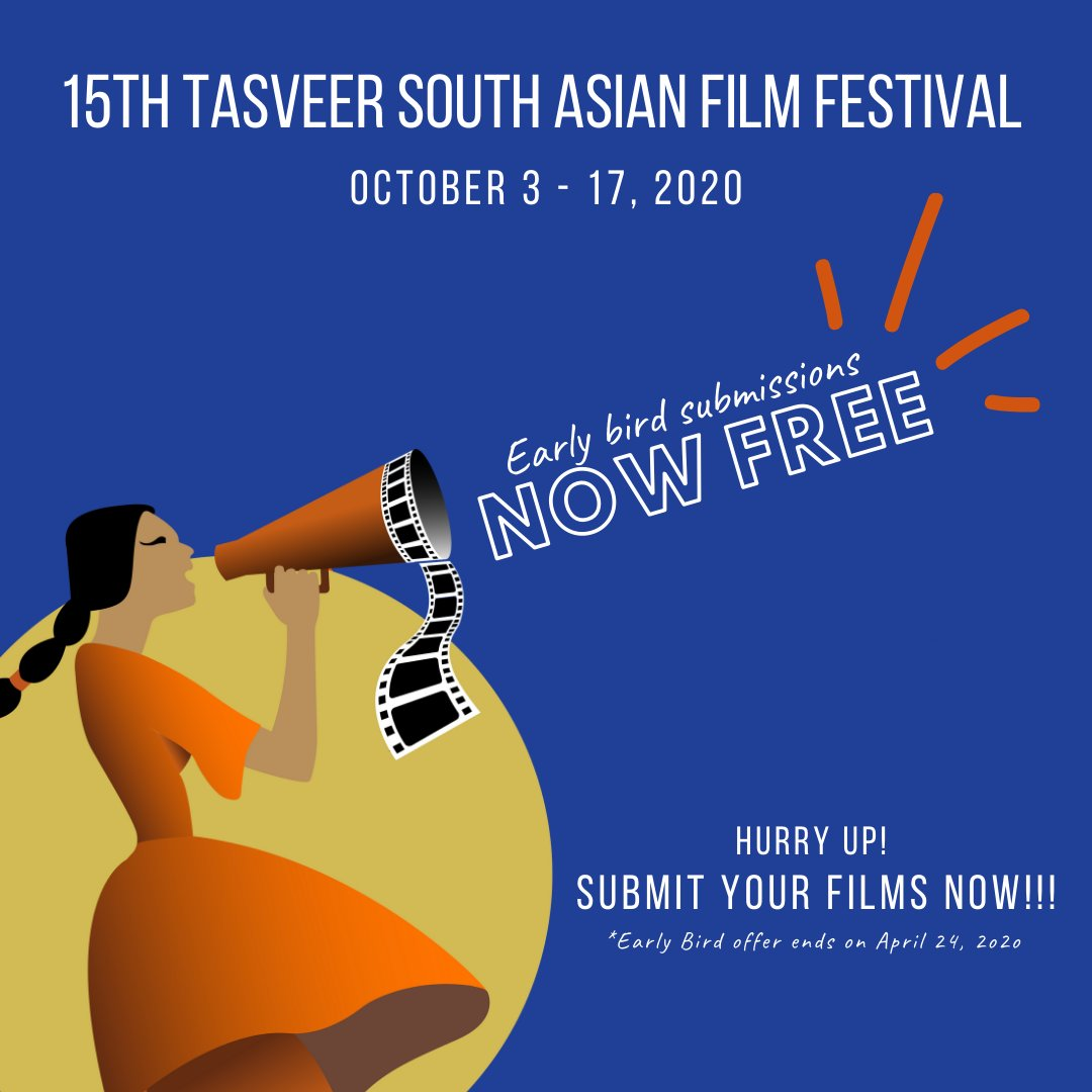 Hello there, filmmakers!  As the #Covid19 pandemic has placed an unprecedented strain on the art community, we've decided to waive #TSAFF2020 Early Bird fees.   Early bird closes April 24, 2020. Hurry up! Submit your films NOW!!!   Go to http://filmfreeway.com/TSAFF  to submit.pic.twitter.com/YG324AeLt7