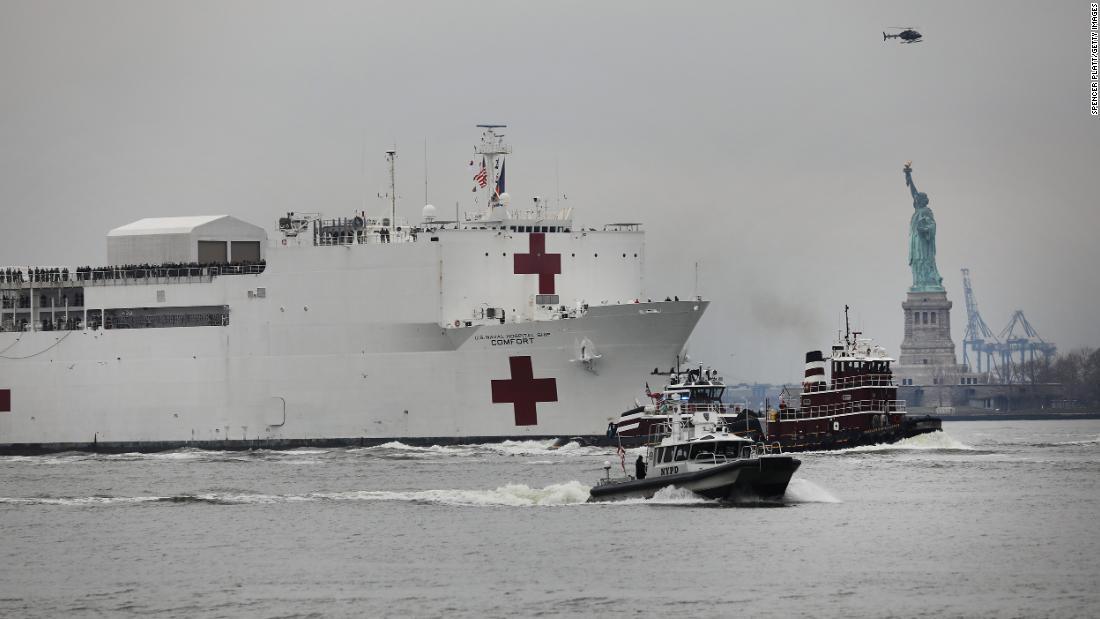 President Trump approves New York request to treat coronavirus patients on Navy hospital ship https://cnn.it/2XcLDxs