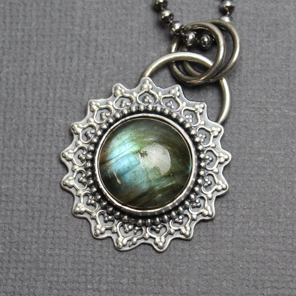 Labradorite Necklace in Sterling Silver 20 Inches Long  #labrradorite #artisanjewelry #metalsmith #texasartist #madeintexas #supporthandmade
