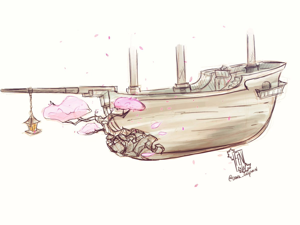 Nothing too fancy today, was just thinking that if we had something like this in sea of thieves, it would be awesome! Having petals flying around as we sailed would be so pretty!   #dailyart #digitalart #procreate #doodle #seaofthievespic.twitter.com/HxrKWJNSLG