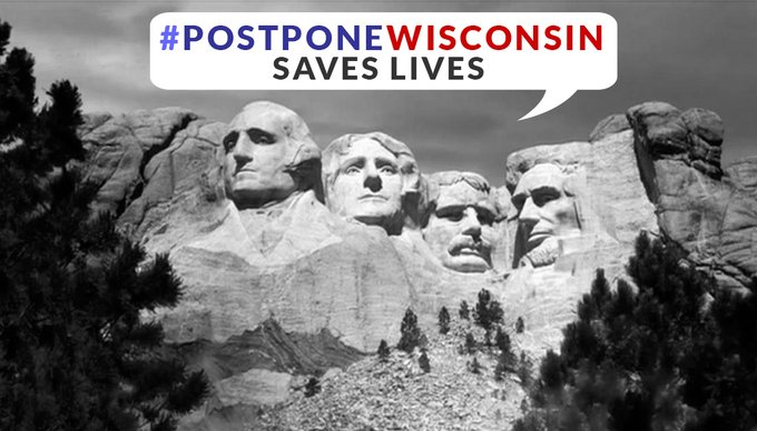 .@GovEvers AND @DHSWI can STOP #WisconsinPandemicVoting AND Postpone the #WisconsinPrimary by issuing an Emergency order. That's what the Ohio Governor did And He saved Lives Because of it. Keep the pressure up on them. #PostponeWisconsin <br>http://pic.twitter.com/cIVdYUkKxA