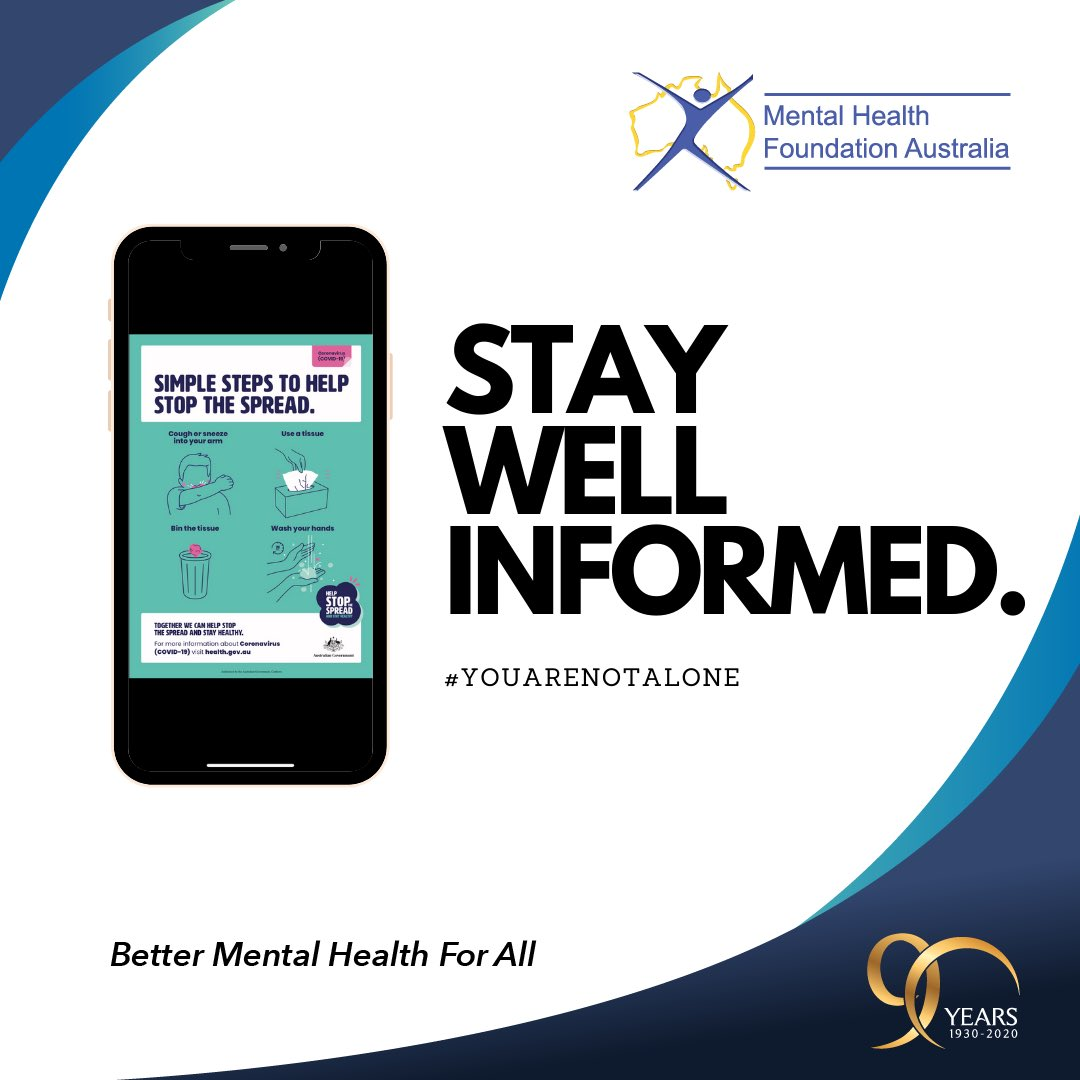 """Mental Health Foundation Australia on Twitter: """"During this time it is good  to stay well informed. Stay informed on the latest coronavirus (COVID-19)  updates. For advice visit https://t.co/vjcGKjyo2h For all things related"""