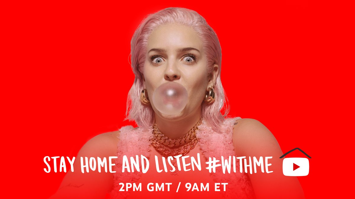 🔴 [LIVE]: It's a birthday livestream with @AnneMarie 🥳 #StayHome and party #WithMe → yt.be/music/AnneMari…