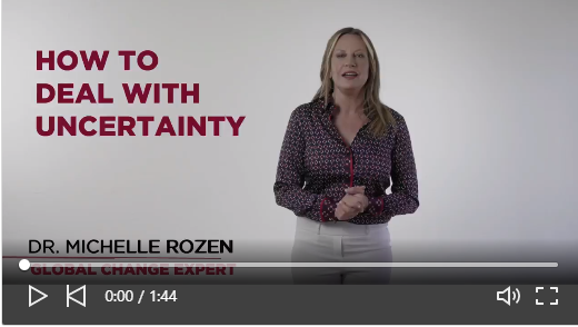 We are all dealing with a lot of uncertainty right now. @MichelleRozen shares how to deal with the uncertainty of it all and how our brain tricks us. #RemarkableSpeakersBureau #GlobalChange #keynotespeaker #Hireaspeaker https://bit.ly/34is3Bnpic.twitter.com/CghbY4LlYv