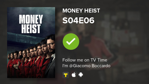 test Twitter Media - I've just watched episode S04E06 of Money Heist! #lacasadepapel  #tvtime https://t.co/aoyDzjBWM5 https://t.co/NiRQdreL9S