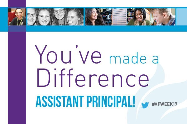 Happy Assistant Principal's Week! We sure do appreciate all the things that you do! @MaureenFanelli @LuxfordES https://t.co/c5irBIVg2o