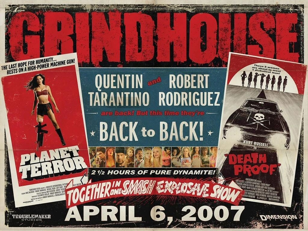 A Rodriguez/Tarantino double feature! GRINDHOUSE hit theaters on this day in 2007.